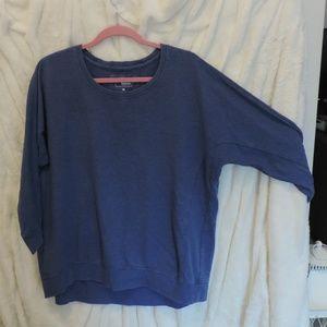 Sonoma Blue Sweater 3/4 Dolman Sleeve